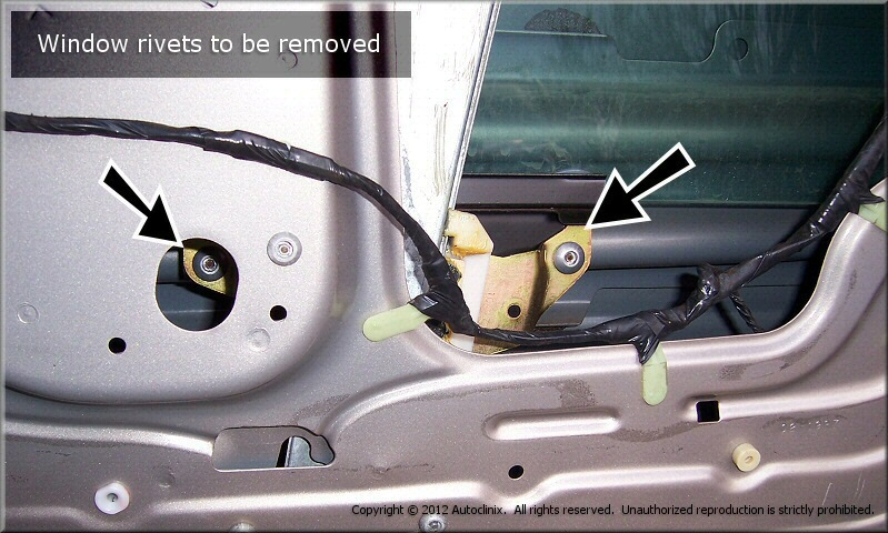 Remove The Gl From Front Door By Lifting It Up And Out Outside Car You Will Need To Angle Window Get