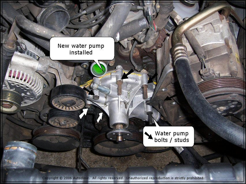 Autoclinix Com Ford Econoline Ford Fl  L Water Pump Repair
